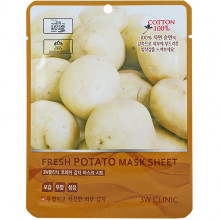 3W Clinic Тканевая маска с экстрактом картофеля Fresh Potato Mask Sheet (1 шт х 27 млл)
