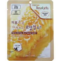 3W Clinic Тканевая маска с королевским желе пчел Fresh Royal Jelly Mask Sheet (1 шт. х 23 гр)