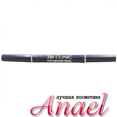 3W Clinic Автоматический двусторонний контурный карандаш для губ Тон «Красное вино» Auto Lipliner Pencil (1 шт)