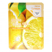 3W Clinic Тонизирующая тканевая маска для лица «Свежий лимон» Fresh Lemon Mask Sheet (1 шт х 23 гр)