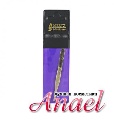 Mertz Manicure 212G Диагональный позолоченный пинцет (1 шт)