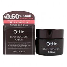 Ottie Антивозрастной крем с муцином черной улитки Black Signature Cream (50 мл)