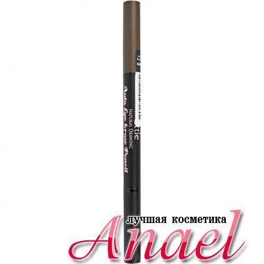 Ottie Автоматический карандаш для бровей «Естественный цвет» Тон 02 Темно-коричневый Natural Drawing Auto Eye brow Pencil (0,2 гр)