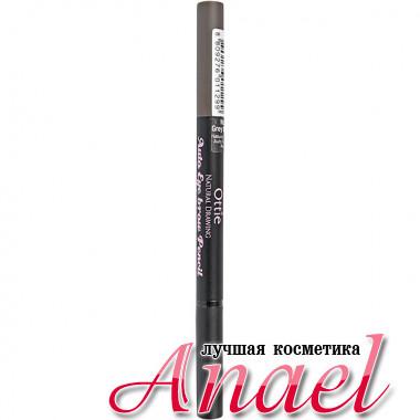 Ottie Автоматический карандаш для бровей «Естественный цвет» Тон 03 Серо-коричневый Natural Drawing Auto Eye brow Pencil (0,2 гр)