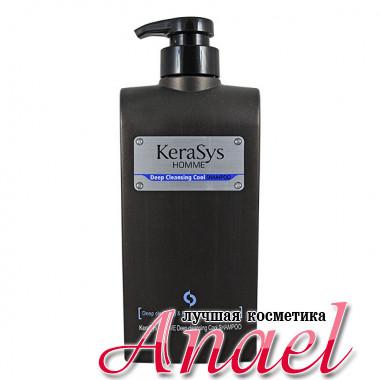 KeraSys Мужской освежающий шампунь с ментолом для глубокого очищения волос Homme Deep Cleansing Cool Shampoo (550 мл)