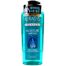 KeraSys Увлажняющий шампунь с керамидами и витамином E для сухих волос Hair Clinic Advanced Moisture Ampoule Ceramide Shampoo (600 мл)