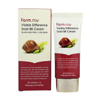 Farm Stay BB-крем с улиточным муцином «Видимая разница» Visible Difference Snail BB Cream SPF50+/PA+++ (50 гр)