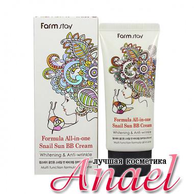 Farm Stay Многофункциональный улиточный BB-крем Formula All-in-one Snail Sun BB Cream SPF50+/PA+++ (50 гр)