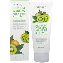 Farm Stay Отбеливающий пилинг-гель (скатка) с AHA-кислотами и экстрактом киви All-In-One Whitening Peeling Gel Kiwi (180 мл)