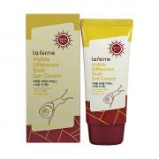 Farm Stay Солнцезащитный крем с улиточным муцином «Видимая разница» SPF50/PA+++ Visible Difference Snail Sun Cream (70 гр)