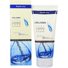Farm Stay Пенка для умывания с коллагеном Collagen Pure Cleansing Foam (180 мл)