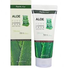 Farm Stay Пенка для умывания с алоэ Aloe Pure Cleansing Foam (180 мл)