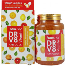 Farm Stay Многофункциональная мультивитаминная сыворотка DR V8 Vitamin Ampoule (250 гр)
