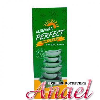 Farm Stay Солнцезащитный успокаивающий крем с экстрактом алоэ SPF 50+/ PA+++ Aloe Vera Perfect Sun Cream (70 гр)