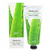 Farm Stay Успокаивающий крем для рук «Видимая разница» с экстрактом алоэ Visible Difference Hand Cream Aloe Vera 97% (100 мл)