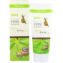 Farm Stay Пенка для умывания с экстрактом улитки Snail Pure Cleansing Foam (180 мл)