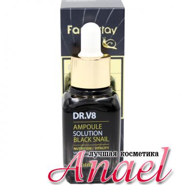 Farm Stay Многофункциональная ампульная сыворотка с муцином черной улитки DR-V8 Ampoule Solution Black Snail Nutrition / Vitality (30 мл)