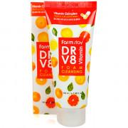 Farm Stay Пенка для умывания с витаминами DR-V8 Vitamin Foam Cleansing (100 мл)