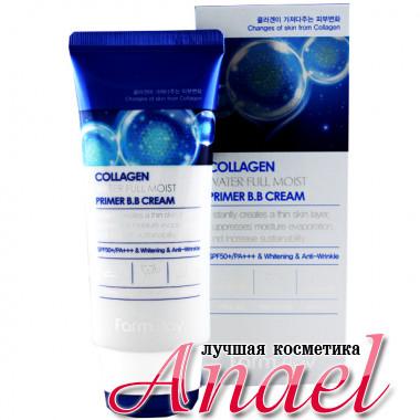 Farm Stay Антивозрастной увлажняющий коллагеновый BB-крем с эффектом праймера Collagen Water Full Moist Primer B.B Cream SPF50 / PA+++ (50 гр)