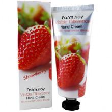Farm Stay Увлажняющий крем для рук «Видимая разница» с экстрактом клубники Visible Difference Hand Cream Strawberry (100 гр)