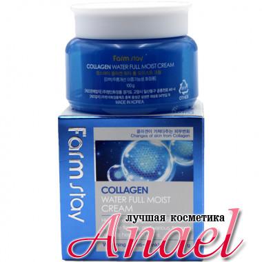 Farm Stay Отбеливающий крем с коллагеном от морщин для лица Collagen Water Full Moist Cream Whitening / Anti-Wrinkle (100 гр)