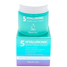Farm Stay Увлажняющий крем с 5 типами гиалурона «Капелька воды» 5 Hyaluronic Water Drop Cream (80 мл)