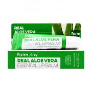 Farm Stay Бальзам для губ «Экстремальное увлажнение» с экстрактом алоэ Real Aloe Vera Essential Lip Balm (10 мл)