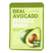 Farm Stay Успокаивающая питающая тканевая маска «Авокадо» Real Avocado Essence Mask Nutrition & Calming (1 шт х 23 мл)
