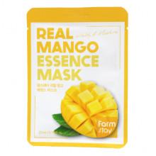 Farm Stay Увлажняющая оживляющая тканевая маска для лица «Манго» Real Mango Essence Mask Vitality & Moisture (1 шт х 23 мл)