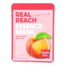 Farm Stay Питающая оживляющая тканевая маска для лица «Персик» Real Peach Essence Mask Nutrition & Vitality (1 шт. х 23 мл)