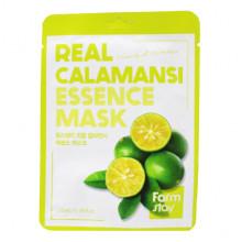 Farm Stay Тканевая маска с экстрактом цитруса каламанси «Оживление и питание» Real Calamansi Essence Mask Vivacity & Nutrition (1 шт х 23 мл)