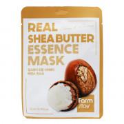 Farm Stay Питающая тканевая маска с маслом ши для сияния кожи Real Shea Butter Essence Mask Glossy & Nutrition (1 шт х 23 мл)