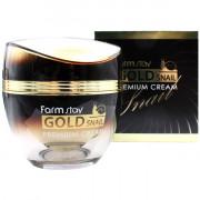 Farm Stay Улиточный крем премиум-класса с коллоидным золотом для лица Gold Snail Premium Cream (50 мл)
