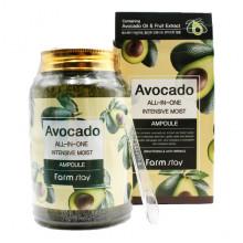 Farm Stay Многофункциональная сыворотка с экстрактом авокадо Avocado All-in-one Intensive Moist Ampoule (250 мл)