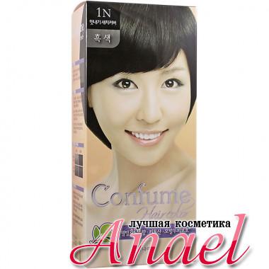 Welcos Стойкая крем-краска для волос Тон 1N Черный Confume Hair Color 1N Black (60 + 60 мл)