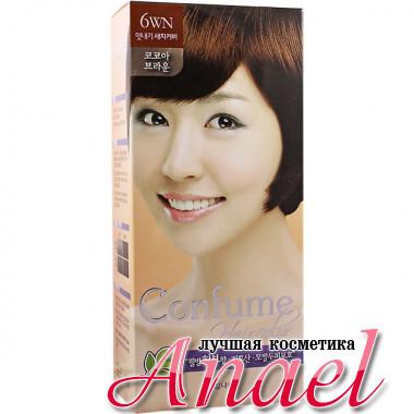 Welcos Стойкая крем-краска для волос Тон 6WN Шоколадный коричневый Confume Hair Color 6WN Cocoa Brown (60 + 60 мл)