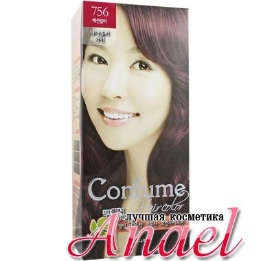 Welcos Стойкая крем-краска для волос Тон 756 Красное вино Confume Hair Color (60 гр + 60 мл + 40 гр)