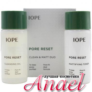 IOPE Дуэт миниатюр «Чистота и матовость» для лица Pore Reset Clean & Matt Duo (2 предмета)