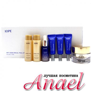 IOPE Набор миниатюр антивозрастных средств класса люкс Anti-Aging Special Trial Kit (7 предметов)