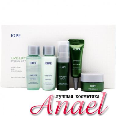 IOPE Набор миниатюр для лифтинга кожи лица и контура глаз Live Lift Special Gift (5 предметов)