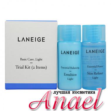 Laneige Набор миниатюр «Базовый уход и свежесть» для комбинированной и жирной кожи Basic Care_Light Trial Kit (2 предмета)