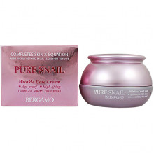 Bergamo Антивозрастной крем против морщин с фильтратом муцина улитки Pure Snail Wrinkle Care Cream (50 гр)
