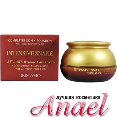 Bergamo Антивозрастной крем против морщин со «змеиным» пептидом Syn-Ake Intensive Snake Syn-Ake Wrinkle Care Cream (50 гр)