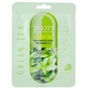 Skinine Jigott Листовая ампульная маска с экстрактом зеленого чая «Ангелы в небе» Angel's in the Sky Green Tea Real Ampoule Mask (1 шт)