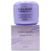 Skinine Jigott Восстанавливающий крем с коллагеном для сухой чувствительной кожи лица Collagen Healing Cream (100 гр)