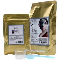 Lindsay Двухшаговая моделирующая альгинатная маска премиум-класса с экстрактом черного жемчуга Home Aesthetic Black Pearl Premium Home Aesthetic Magic Modeling Mask (500 гр+50 гр)