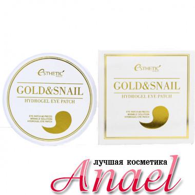 Esthetic House Гидрогелевые патчи c улиточным муцином и коллоидным золотом для контура глаз Gold & Snail Hydrogel Eye Patch (60 шт)