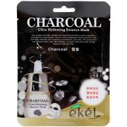 Ekel Ультра-увлажняющая тканевая маска с угольной пудрой для лица Charcoal Ultra Hydrating Essence Mask (1 шт х 25 мл)