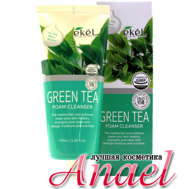 Ekel Пенка для умывания «Зеленый чай» Green Tea Foam Cleanser (100 мл)