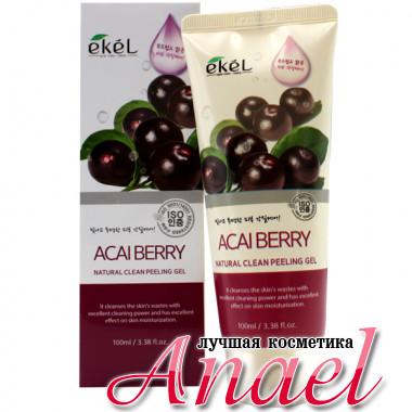 Ekel Пилинг-гель (скатка) «Натуральная  чистота » с экстрактом ягод асаи Acai Berry Natural Clean Peeling Gel (100 мл)
